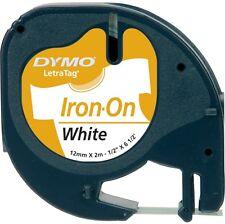 Dymo LetraTag Tape 12mm Nylon Iron-on White S0718850