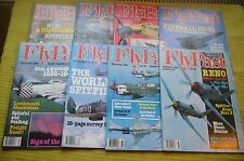 8 x FlyPast Magazines  March / June - December 1986 VGC Aviation