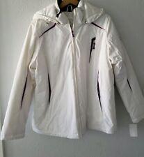 Zeroxposur womens purple white hooded  zipper jacket size XL