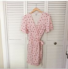And Other Stories Pink Flower Mini Wrap Dress Size 6