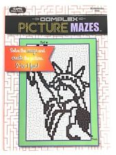 Complex Picture Mazes Solve the maze create the picture #2 Adult Activity Book