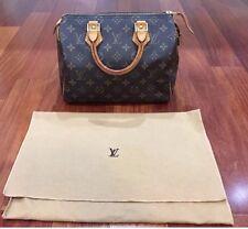 Authentic Louis Vuitton Speedy 25 Satchel Monogram Classic Handbag Purse Dustbag