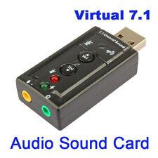 Mini-USB Extern USB 2.0 Soundkarte Audio Adapter 7.1 3D Sound Kopfhörer Headset