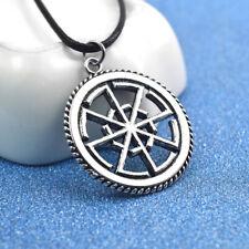 Medieval Men Viking Pendants Round Slavic Necklace Silver Jewelry Tibetan Amulet