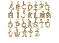 New 9ct Gold Filled Initial Alphabet  Pendant and Chain Necklace with CZ  B341