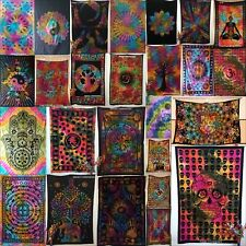 Random Multi Cotton Twin Tapestry Wall Hanging Textile Art Bedding Bed spread