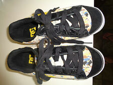 DC Women's Shoes. Size 6.5. Gold And Brown Splatter Pattern  Skateboard Shoe