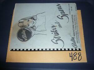 Bally Strikes and Spares Pinball manual