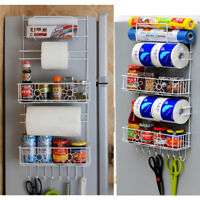 Kitchen Storage Rack- Over-Fridge Hook Shelf Cabinet Organizer Total 5-Tiers USA