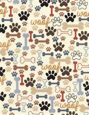 Dog Bones & Paws Patchworkstoffe Stoffe Hunde Tiermotive Patchwork Pfoten Tatzen