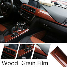 Glossy Wood Grain Textured Vinyl Self-adhesive Car Wrap Decals Sticker 30x100cm