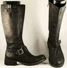 Women's Timberland Black Leather Tall Boots 9 M