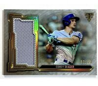 Corey Seager SP 2020 Topps Relic 2/36 Dodgers Triple Threads No Auto PSA 10? Gem