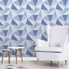 Fine Décor FD41992 UK Apex Geo Sidewall Wallpaper Blue