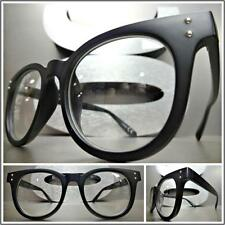 Men's VINTAGE 50's RETRO Style Clear Lens EYE GLASSES Matte Black Fashion Frame