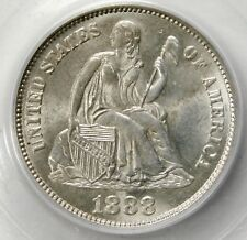 PCGS  MS64 1888 SEATED LIBERTY DIME