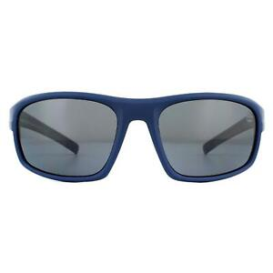 Timberland Sunglasses TB9134 91D Matte Blue Blue Gray Polarized