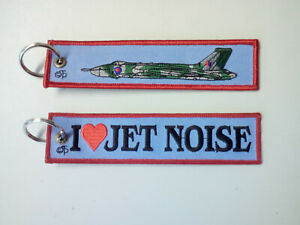 Cloth Tag - I luv Jet Noise on front, Vulcan graphic on reverse