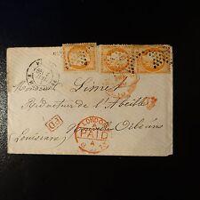 CÉRÈS N°38 x3 (1 PAIRE) LETTRE COVER ÉTOILE N°9 NOUVELLE ORLÉANS LOUISIANE USA