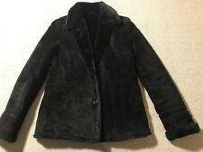 Brooks Brothers 346 Black Soft Leather Shell Lined Fur Jacket XS Women? Men? #G4