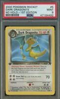 MISLABELED 2000 Pokemon Rocket Dark Dragonite No Holo 1st Edition PSA 9 #5/82