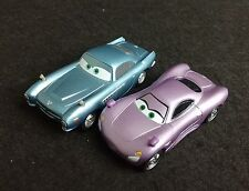 Disney Cars Lot 2 Set Holly Holley Shiftwell & Finn McMissile 1/55 Diecast