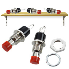 Red Momentary Push Button SPST AC (x2)