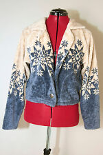 Christmas Snowflakes Jacket/Sweater Pine Cone Design Size Extra Small XS