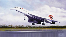 BA Concorde Final Touchdown at Filton print signed by very last flight Pilot