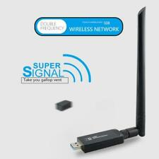Dual Band 2.4G/5G WiFi USB 3.0 Adapter Wireless High Gain Antenna Network Cards