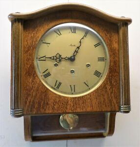 NICE WORKING GERMAN FRIEDRICH MAUTHE WESTMINSTER CHIME 8 DAY WOOD WALL CLOCK!