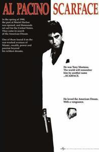Scarface One Sheet 24 x 36 Inch Maxi Poster Movie Tony Montana Scar Face