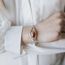 Amber Bracelet Cuff Bangle Bracelet Adjustable Baltic Amber Floral Unique Amber