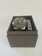 SURFACE QUARTZ WATCH 33412 STAINLESS STEEL BACK