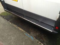 2006Up Citroen Relay  Chrome Rear Bumper Protector Scratch Guard S.Steel
