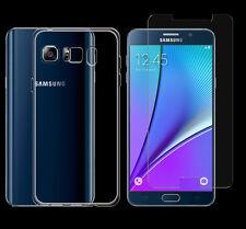 Samsung Galaxy Note 5 TPU Silikon Schutz Hülle Cover Bumper + PANZER GLAS Folie