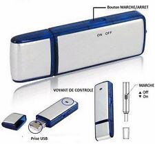 Micro Espion Clé USB Enregistreur Dictaphone 8GO Simple Utilisation