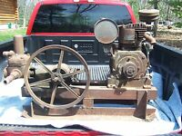Antique Fairbanks Morse Water Piston Pump Hit Miss Engine Era Carriage & Motor