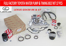 NEW LEXUS GS430 2006 2007 FACTORY OEM WATER PUMP TIMING BELT KIT V8 4.3L ENG