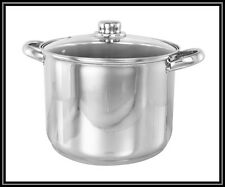 28cm 13L DEEP STAINLESS STEEL STOCKPOT STOCK POT PAN INDUCTION HEAVY DUTY GAUGE