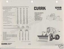 Equipment Brochure - Clark - Michigan - 125B - Wheel Loader - 1976 (E1205)