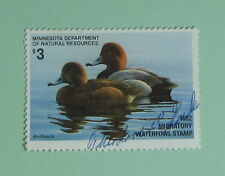 1982 Minnesota DNR Waterfowl Duck Hunting Stamp License Tag...Free Shipping!