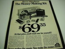 DECCA Electric Guitar money making kit RARE Preserved 1967 PROMO POSTER AD