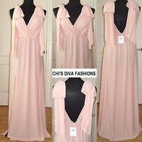 "EX ASOS Grecian Bow Tie Shoulder Maxi Dress Sizes 8, 10, 12/14, 16/18 Length 59"""