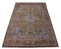 Feiner Kashan 350 x 248 cm Orientteppich Handgeknüpft Perser Erdfarben Neuwertig