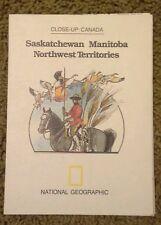 1979 Saskatchewan Manitoba Northwest Territories Map National Geographic