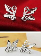 Shiny 925 Sterling Silver Plated Cute Cutout Butterfly Stud Earrings Gift UK
