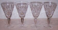 EXQUISITE VINTAGE SIGNED WATERFORD CRYSTAL GLENMORE SET OF 4 WHITE WINE GLASSES