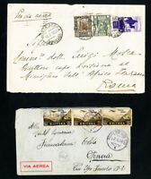 Eritrea 2 Early Backstamped Stamp Covers