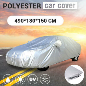 16ft Waterproof Full Car Cover All Weather Protection Sun UV Rain Dust